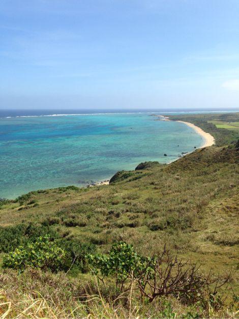 玉取崎展望台からの海の眺め
