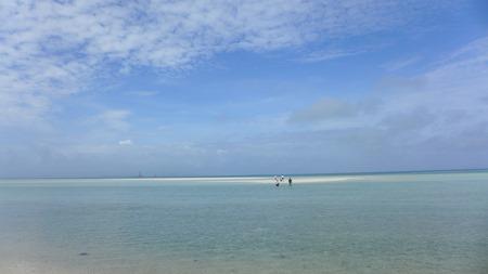 コンドイ浜 竹富島 浅瀬の砂の島