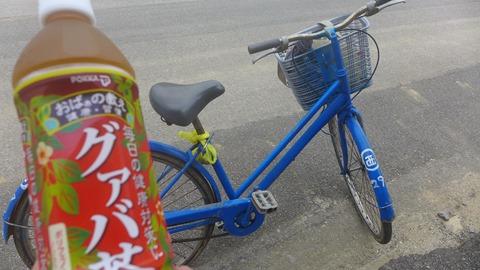 西浜荘の自転車 波照間島