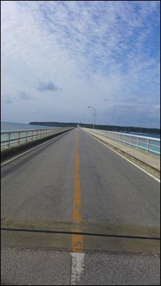 来間大橋(くりまおおはし) 橋の上から