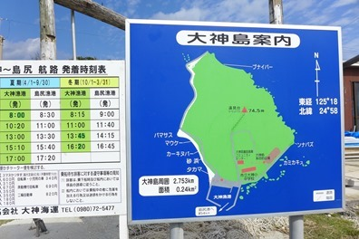 大神島の観光看板