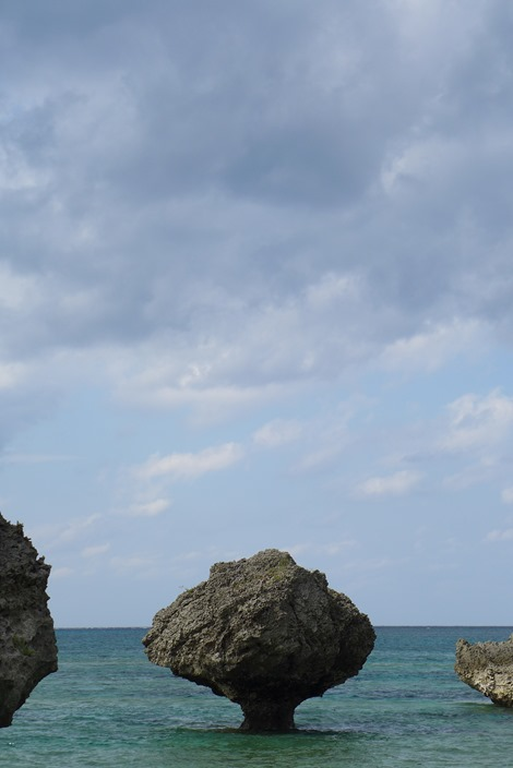 大神島の奇石(ノッチ)