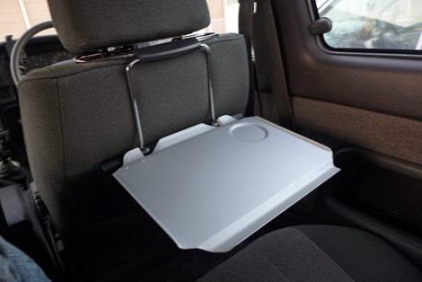 サンワダイレクト 車載用 折りたたみテーブル 後部座席