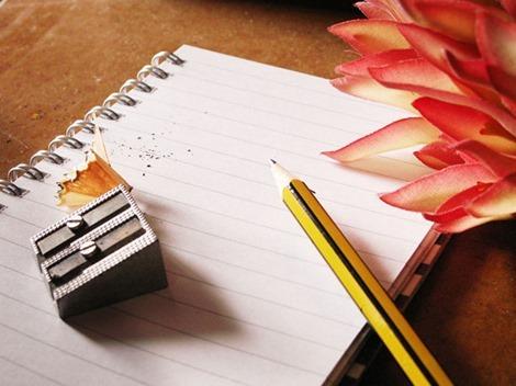 日記手帳を書く