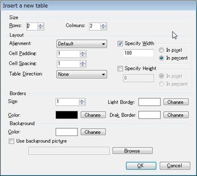 Windows Live WriterテーブルHTMLを作るプラグイン