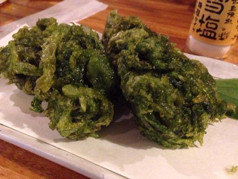 沖縄で初めて食べた、もずくの天ぷら