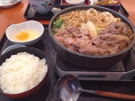 和食のさと 牛すきうどん定食