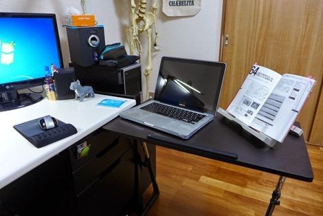 折りたたみ テーブル パソコンデスク デスク 木製デスク サイド テーブル 昇降式 高さ調節 机 学習デスク ベッドサイド desk