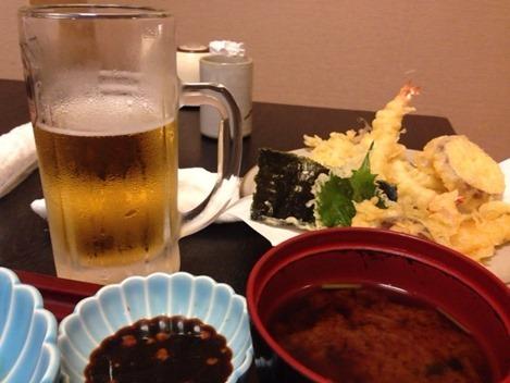 サクサク天ぷらとビール