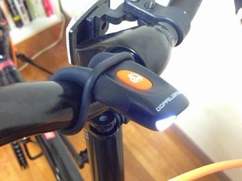 折りたたみ自転車の簡易ライトのつけ方