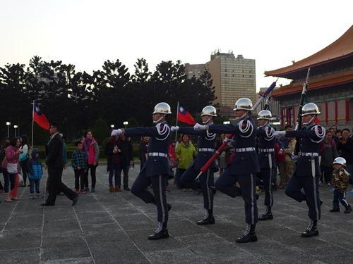 忠烈祠 傭兵交代式の行進