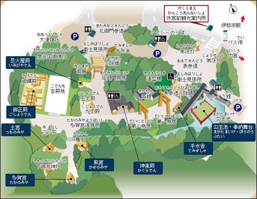 伊勢神宮 外宮の地図