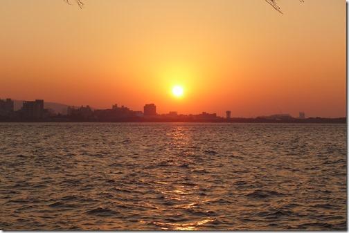淡水の夕日強烈!