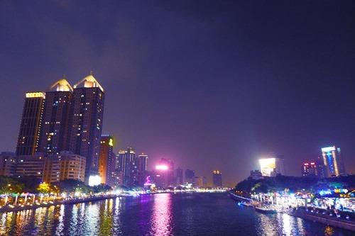 [台湾]高雄の夜 正中大橋