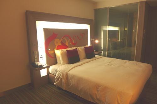 ノボテル台北桃園国際空港ホテル ベッド