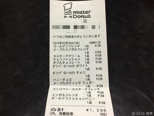 ミスタードーナツ108円セール最新情報 種類とカレンダー2月~3月