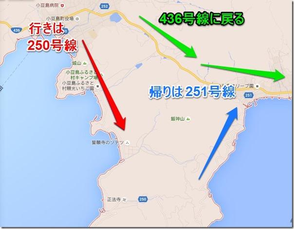 小豆島三都半島の地図