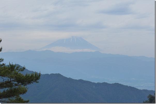 昇仙峡ロープウェーからの富士山の眺め